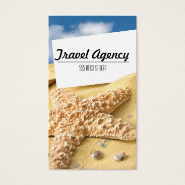 Beach Themed Beach Theme Travel Agency Business Card