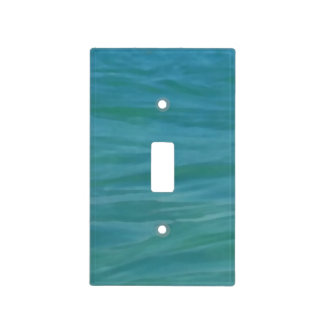 Beach Theme Tropical Blue Green Aquamarine Waves Light Switch Cover
