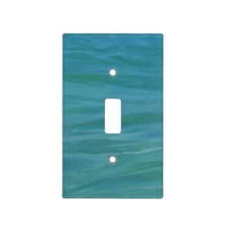 Beach Theme Tropical Blue Green Aquamarine Waves Light Switch Cover