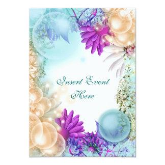 "Beach theme tropical elegant party 5"" x 7"" invitation card"