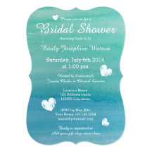 Beach bridal shower invitations announcements zazzle filmwisefo Choice Image