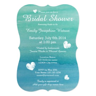 backgroundpatterns Beach theme watercolor bridal shower invitations