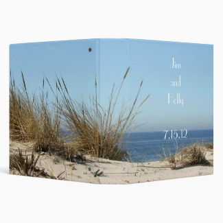Beach Theme Wedding  Binder