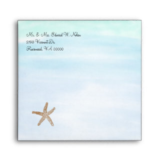 Beach Theme Wedding Envelope