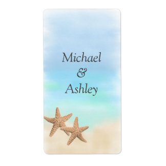 Beach Theme Wedding Favor Labels Shipping Labels