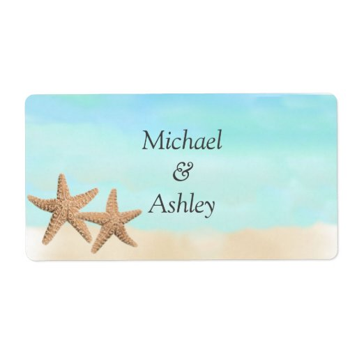 Beach Theme Wedding Favor Labels Personalized Shipping Label