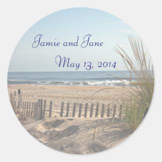 Beach Theme Wedding Favor stickers