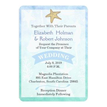 Beach Themed Beach Theme Wedding Invitation