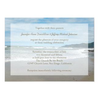 Beach Theme Wedding Invitations, Sandy Beach Card