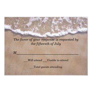 DizzyDebbie Beach Theme Wedding Response Card