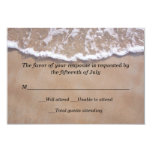 Beach Theme Wedding Response Card Personalized Announcement