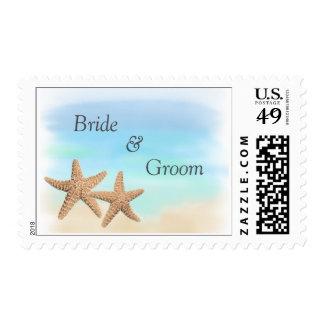 Beach Theme Wedding Stamps