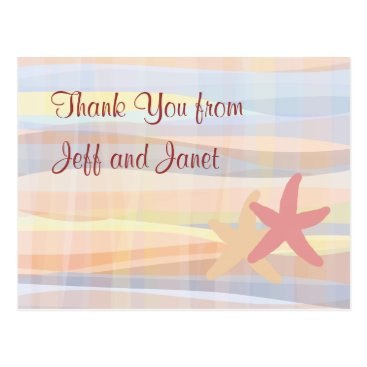 Beach Themed Beach Theme Wedding Thank You Postcards
