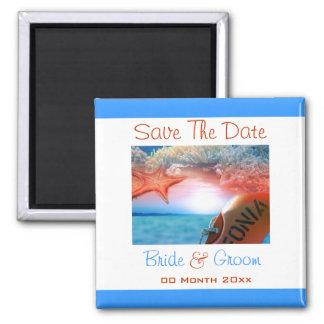 Beach theme wedding tropical cruise magnet