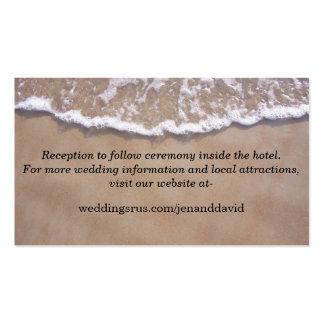 Beach Theme Wedding Website Enclosure Card
