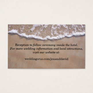 Beach Theme Wedding Website Enclosure Card