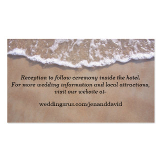 Beach Theme Wedding Website Enclosure Card Business Card