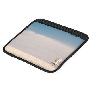 Beach Themed, A White Cabin Situated On A Beach Sleeve For iPads