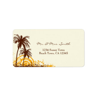 Beach Themed Address Label