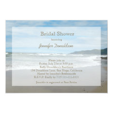Beach Themed Bridal Shower Invitations at Zazzle