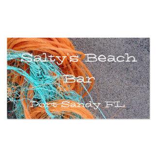 Beach themed business card