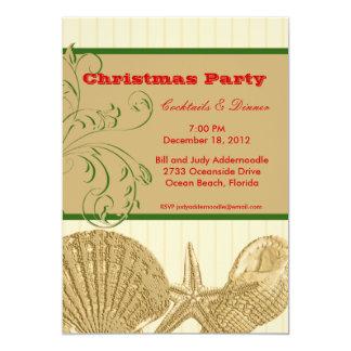 Beach Themed Christmas Invitation