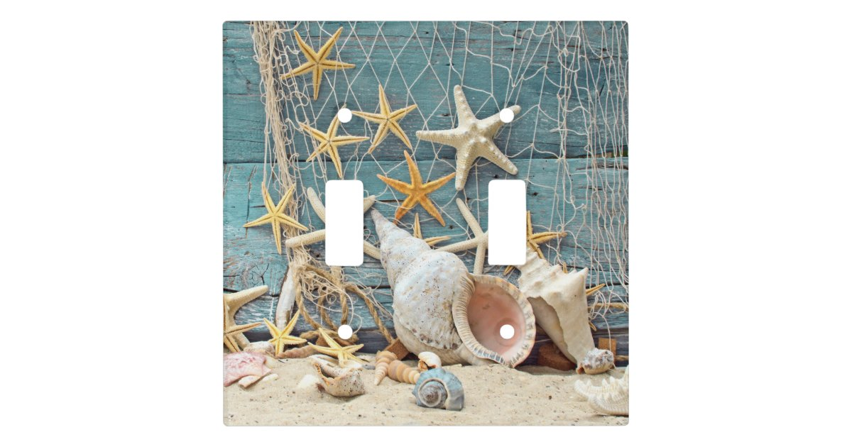 Beach Themed Conch Shell Starfish Amp Fishing Net Light