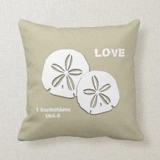 Beach Themed Love Scripture Throw Pillow