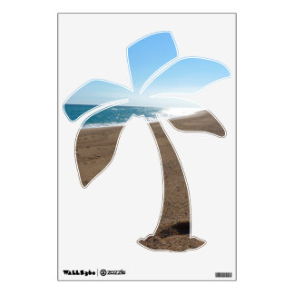 Beach Themed Palm Tree Wall Decal