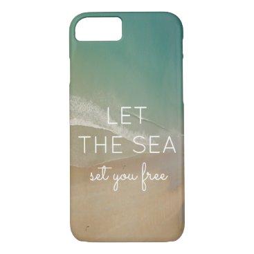 Beach Themed Beach Themed Phone Case with Ocean Background