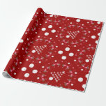 "Beach Themed Red Christmas Flamingo Sand Dollars Wrapping Paper<br><div class=""desc"">Beach themed christmas gift wrapping paper in dark red with flamingos,  sand dollars and starfish trees.</div>"