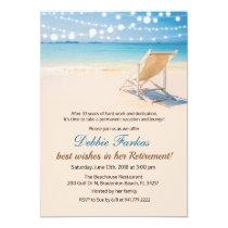 Beach Themed Retirement Lounge Chair Invitation