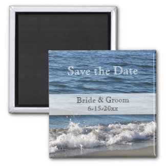 Beach Themed Save the Date Magnets - Beach