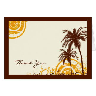 Beach Themed Thank You Note Card