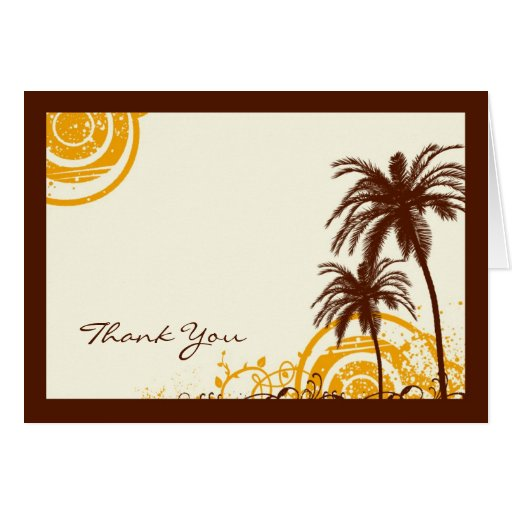 Beach Themed Thank You Note Stationery Note Card