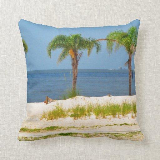 Beach Themed Throw Pillows Zazzle