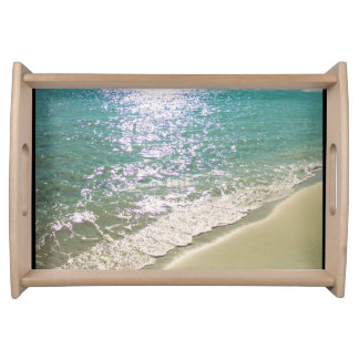Beach themed tropical serving tray