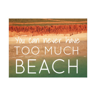 Beach Themed Wall Art with Quote