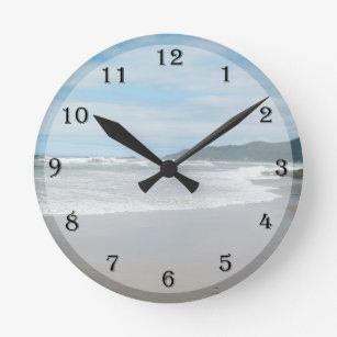 Beach Themed Wall Clocks Zazzle