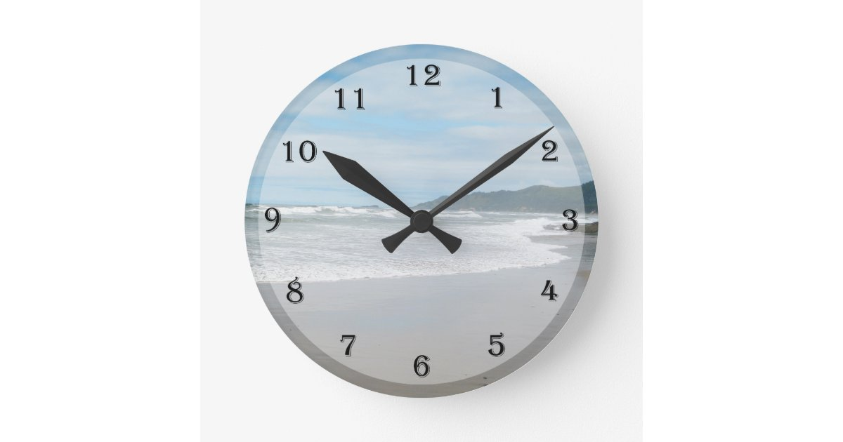 Beach Themed Wall Clock Zazzle