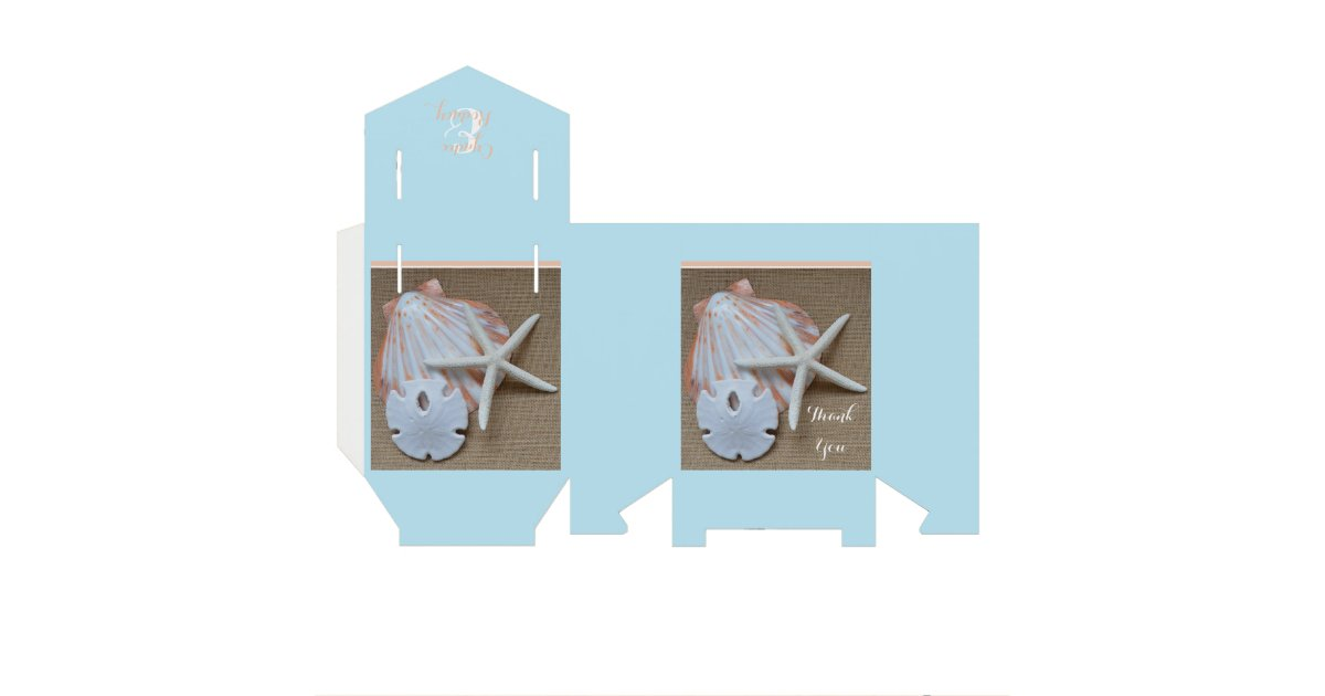 Beach Themed Wedding Favor Boxes