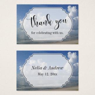 Beach-Themed Wedding Favor Thank You Business Card