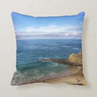 "Beach Throw Pillow 16"" x 16"""