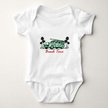 Beach Themed Beach Time Baby Bodysuit