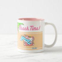 BEACH TIME! Boynton Two-Tone Coffee Mug