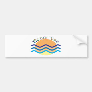 Beach Time Bumper Sticker