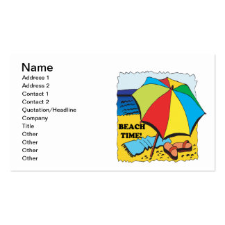 Beach Time Double-Sided Standard Business Cards (Pack Of 100)