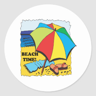 Beach Time Classic Round Sticker