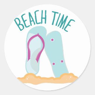 Beach Time Classic Round Sticker