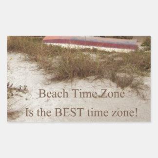 Beach Time Florda Cottage theme Rectangular Sticker